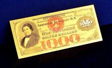 """★★ BILLET POLYMER  """" OR """" DU 1000 DOLLARS 1878 USA ● DESTOCKAGE ★★"""