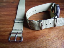 Mercian Regt  buff colour G1098 watch strap, Nickel fittings, British Army
