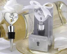 Key to My Heart Chrome Heart Bottle Stopper Wedding Favors