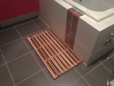 600 x 450mm Cedar bath shower mat designer timber wood Christmas Gift Special