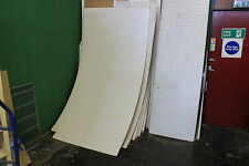 WOODEN WHITE FACED PEGBOARD 8FT X 4 FT SHEET PLUS ODDMENTS AS WELL