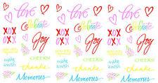 Mrs Grossman's LOVE Phrase WORD XOXO Joy Celebrate Scrapbook Stickers 3 sheets