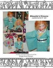 Bleuette Kimono with Obi  Sewing Pattern  ~ Simply Grace Designs