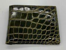 Laurent Effel Genuine Green Alligator Billfold Wallet, Saint Barthelemy, France