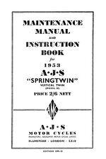 (0046) 1953 AJS Twins Maintenance manual