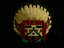 Vtg Native American Iconic Design Hopi Large Shell Pendant Wall Hanging