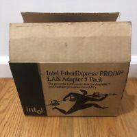 New Intel EtherExpress PRO/10+ ISA LAN Adapter 5 Pack Lot Sealed
