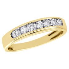 10K Yellow Gold Round Diamond Wedding Band Engagement Ring Channel Set 0.50 ct.
