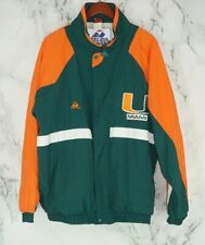 Vtg Apex One Varsity Miami Hurricanes Varsity Jacket XL Windbreaker Quilted