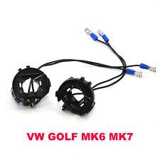 VW GOLF MK6 MK7 VI VII H7 XENON HID BULB HOLDERS ADAPTERS Scirocco Sharan X2