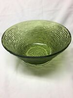 "Vintage Anchor Hocking Soreno Glass Avocado Green  8"" Bowl"