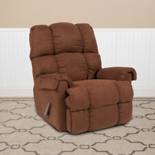 Contemporary Microfiber Rocker Recliner Sierra Chocolate