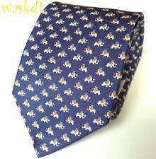 9ae9b87e3e78 Salvatore Ferragamo Men's Blue Red Elephant 100 Silk Neck Tie