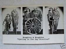 RPPC HOUGHTON & HOUGHTON CYCLING IN THE GAY NINETIES! REAL PHOTO 1950's POSTCARD