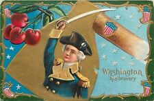 Patriotic~Nash Gold Hatchet Series~Washington: His Bravery~Cherries~Art Nouveau