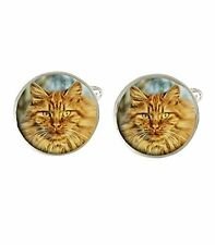Ginger Cat Mens Cufflinks Ideal Wedding Birthday Fathers Day Gift C365