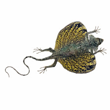 More details for real a1 taxidermy yellow draco flying lizard indonesian collectors specimen