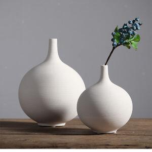 Tabletop Desk White Ceramic Vase Flower Vase Ikebana Flower Art Pot Landscrape