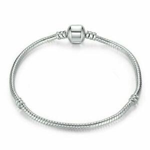 Silver Snake Chain Bracelet Snap Clasp Wholesale 17 18 19 20 21 cm UK Seller