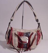 NEW GUESS Women's Faux Croc-Embossed Stone Pink Gray Hobo Bag Handbag Purse