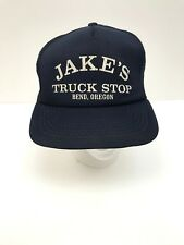 Vintage Snapback Jake's Truck Stop Trucker Hat Bend Oregon Foam Cap Automotive