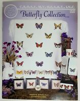 Cross My Heart Counted Cross Stitch Pattern Butterfly Collection Rebecca Trent