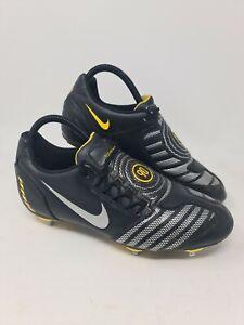 Nike Total Ninety 90 Shoot SG Football Boots Black/Yellow Retro UK5.5 US6 EU38.5