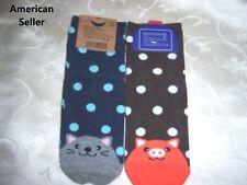 Ladies novelty crew socks POLKA DOT PIG PIGLET KITTY CAT