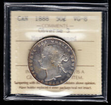 1888 Canada  - 50 Cents -  ICCS Graded VG-8 - Obverse 3 - Key Date Coin!