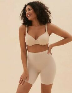 NEW M&S SHAPING ANTI CHAFE THIGH SLIMMER LIGHT CONTROL KNICKERS SIZE 10