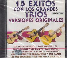 Los Tres Caballeros 15 Exitos Con Los Grandes Trios CD New Nuevo Sealed