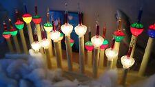 CHRISTMAS BUBBLE LIGHTS 50's 60's Noma antiques 9 PURPLE  LILA  MAUVE ULTRA rare