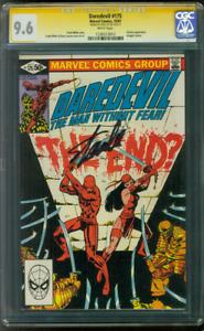 Daredevil 175 CGC SS 9.6 Stan Lee Elektra Kingpin TV Key Frank Miller 10/81 WP