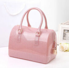 Women's Handbag Candy Colored Transparent Crystal Bag Jelly Girl's Shoulder Bags