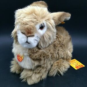 Vintage Steiff Dormy Brown Bunny Rabbit 2975/25 New with Tags Western Germany