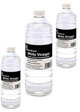 3 X 1 L Blanc vinaigre non toxique anticalcaire/Détachant Nettoyant à vitre