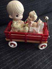 enesco precious moments christmas ornaments in Radio Flyer wagon Rare