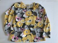 GYMBOREE OUTLET SHIRT 5T BRIGHT OWL TOP PINK YELLOW WHITE FLORAL
