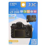 2x Film de Protection Écran LCD Dureté H3 pour Appareil photo Nikon D500
