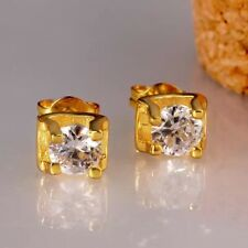18K GOLD FILLED SQUARE STUD EARRINGS MADE WITH SWAROVSKI CRYSTAL BRIDESMAID GF40