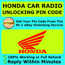 HONDA RADIO UNLOCK CODE SERVICE CIVIC CRV JAZZ ACCORD INSIGHT HRV FAST SERVICE ✅
