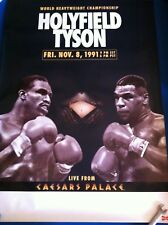 MIKE TYSON vs. EVANDER HOLYFIELD 1991 Original Onsite Boxing Poster Mint RARE
