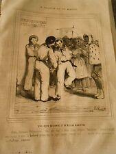 Litho 1843 - Civilisation aux Iles Marquises Une lecon de danse belles manières
