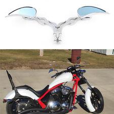 TEARDROP MOTORCYCLE REARVIEW MIRROR CUSTOM FLAME FOR HONDA KAWASAKI 10MM CHROME