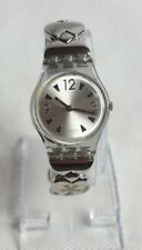 Vintage Swatch Skeleton Back Swiss Ladies Quartz Watch Working
