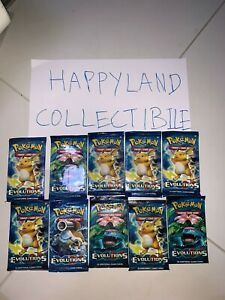 10 Pokemon XY Evolutions Booster Packs! Brand New, Factory Sealed!
