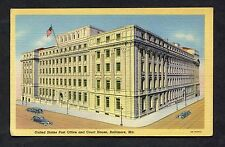 C1940's View of the US Post Office & Court House, Baltimore, Md. USA.