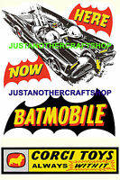 Corgi Toys 267 Batman Batmobile A4 Size Poster Advert Shop Sign Leaflet 1966