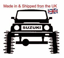 "Suzuki Jeep ""Big Wheels"" Quality Vinyl decal for your car, van, iPad or Laptop"