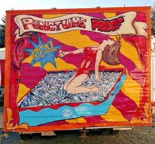 AUTHENTIC FREAK SIDESHOW BANNER OOAK,MAGIC,ODD,CIRCUS.10' X 8',HAND PAINTED,GAFF